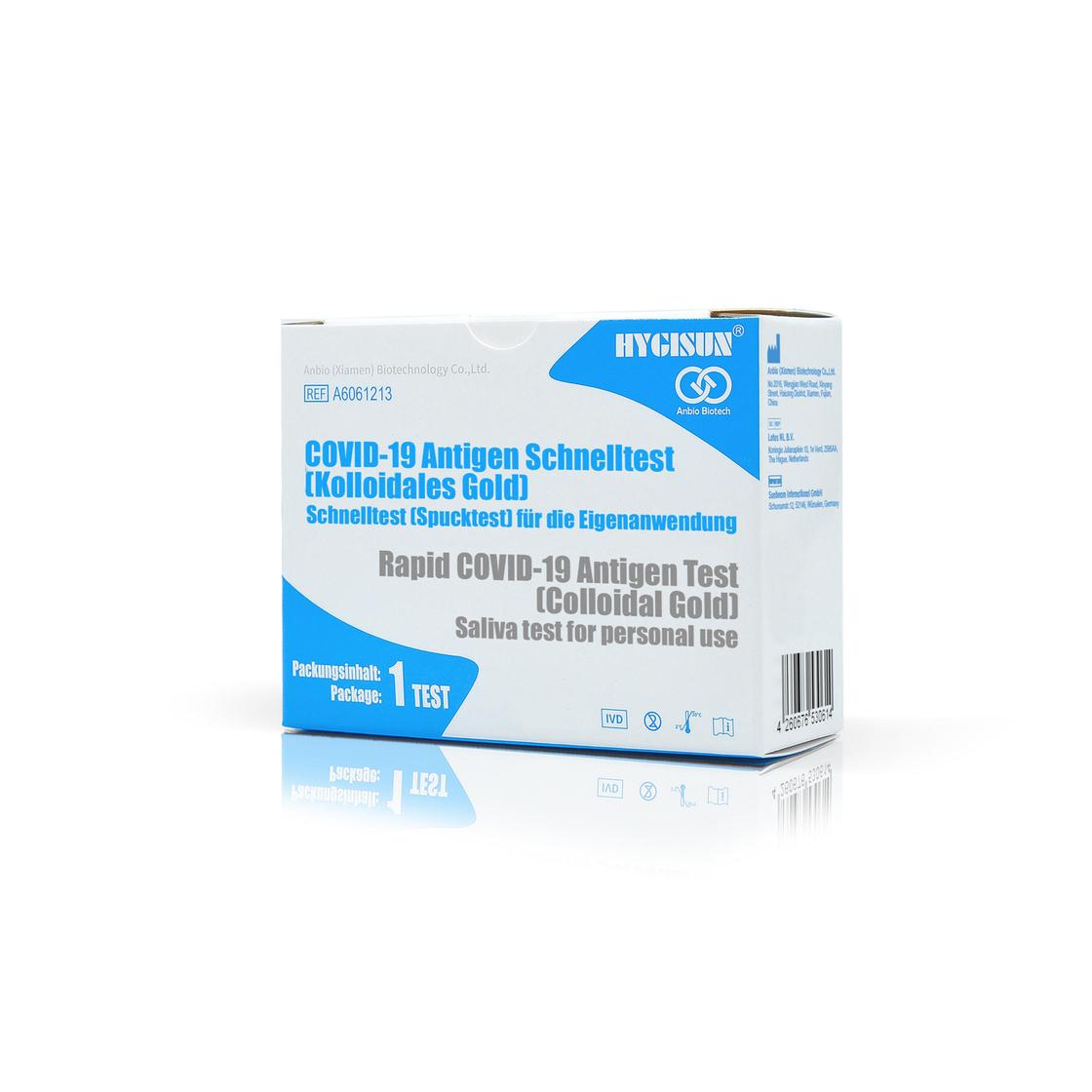 HYGISUN® COVID-19 Antigen Schnelltest, Spucktest für die Eigenanwendung